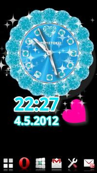 [FREE]CUTE QLOCK Blue Diamond screenshot 9