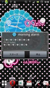 [FREE]CUTE QLOCK Blue Diamond screenshot 13