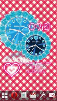 [FREE]CUTE QLOCK Blue Diamond screenshot 19