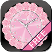 [FREE]CUTE QLOCK LWP Baby Pink icon