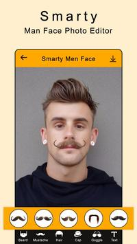 Smarty Man Face Maker : Man Mustache Photo Suit screenshot 1