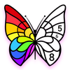 Color by Number, Paint Art - Star Coloring Pages-icoon