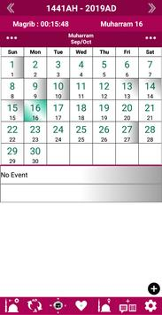 Islamic Calendar /Prayer Time /Widget /Qibla /Azan poster