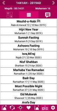 Islamic Calendar /Prayer Time /Widget /Qibla /Azan screenshot 3