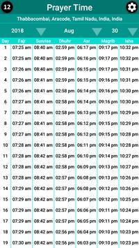 MUIS based Prayer Time & Qibla - Singapore screenshot 2