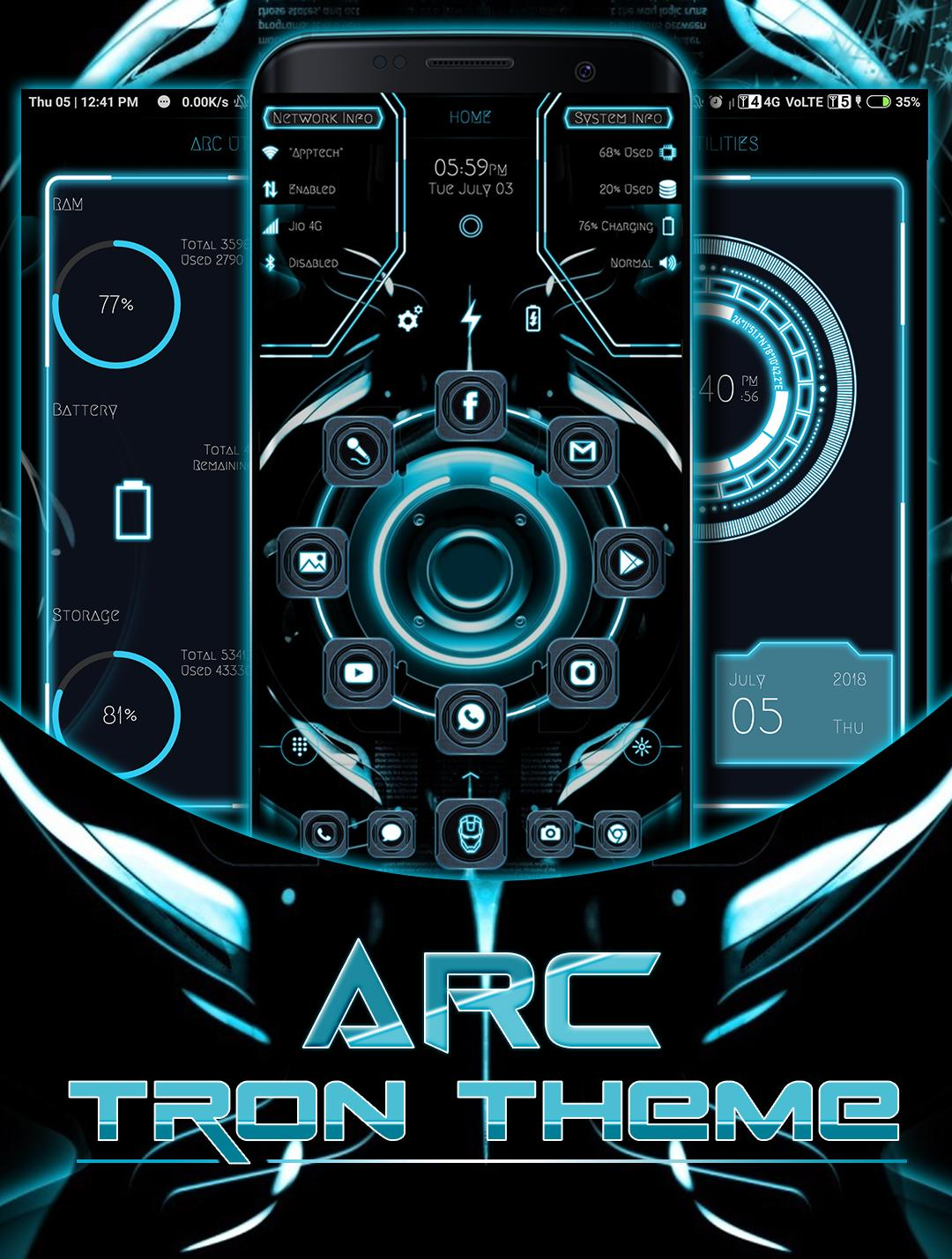 Arc Tron Launcher Theme 2018 + Icon Pack for Android - APK Download