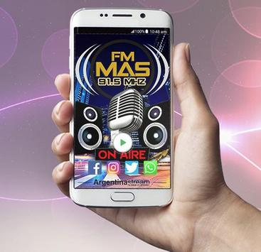 FM Mas 91.5 Mhz - Radio Studio Dance poster