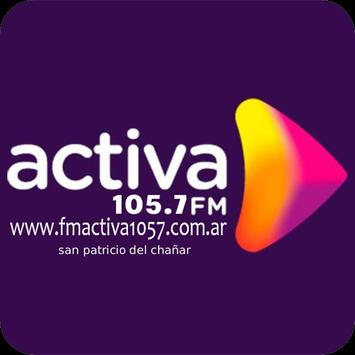 Radio Activa FM 105.7 San Patricio del Chañar NQN الملصق