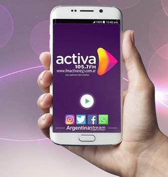 Radio Activa FM 105.7 San Patricio del Chañar NQN تصوير الشاشة 1
