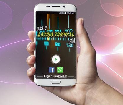 Radio Latina Tropical FM 101.7 Mhz poster