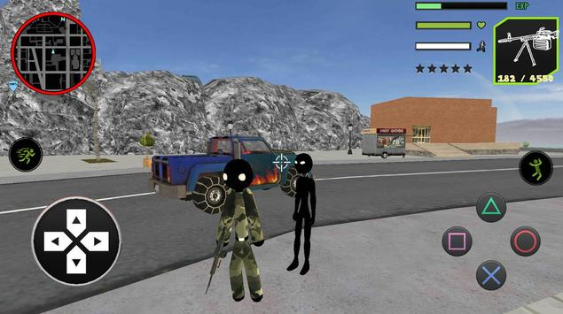 US Army Counter Stickman Rope Hero Crime OffRoad screenshot 1