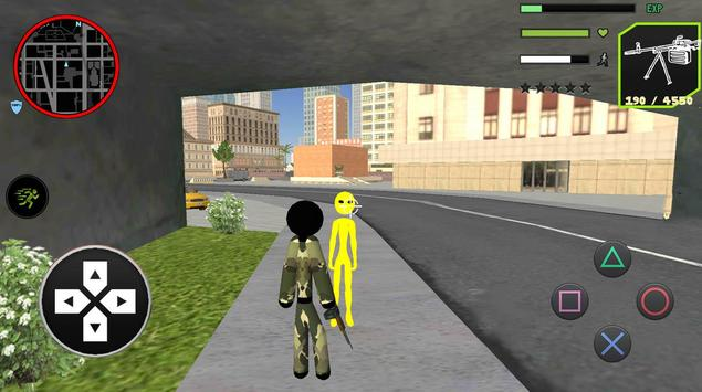 US Army Counter Stickman Rope Hero Crime OffRoad screenshot 2