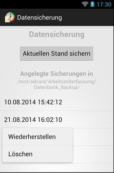 Arbeitszeiterfassung screenshot 6