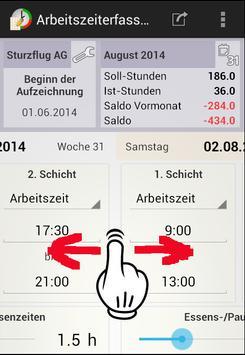 Arbeitszeiterfassung screenshot 3
