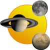 Sun, moon and planets иконка