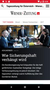 Wiener Zeitung poster