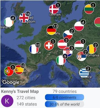 Travelmapper 截圖 2