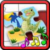 Kinderen Dinosaur puzzels-icoon
