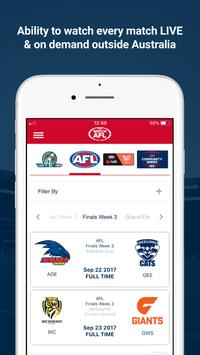 Watch AFL poster