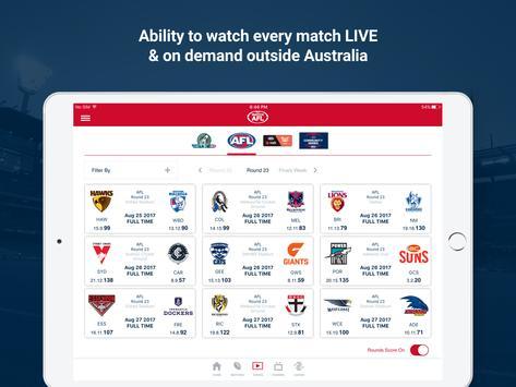 Watch AFL screenshot 5