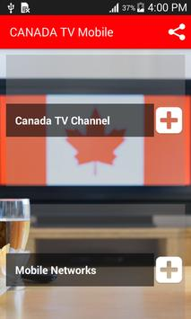 Canada TV Mobile Live plakat
