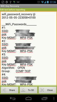WiFi Key Recovery screenshot 3