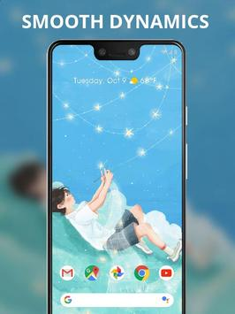 Boy shining stars weave scarf live wallpaper screenshot 1