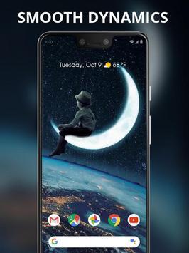 Boy sitting on the moon live wallpaper screenshot 1