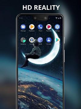 Boy sitting on the moon live wallpaper screenshot 2