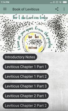 BOOK OF LEVITICUS - BIBLE STUDY poster