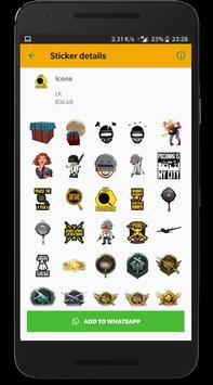 Battlegrounds Stickers for WhatsApp screenshot 1