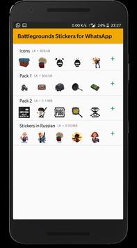 Battlegrounds Stickers for WhatsApp screenshot 2
