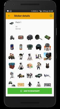 Battlegrounds Stickers for WhatsApp screenshot 4