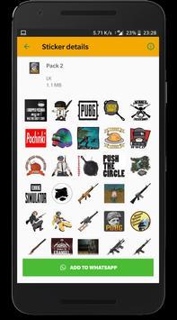 Battlegrounds Stickers for WhatsApp screenshot 5