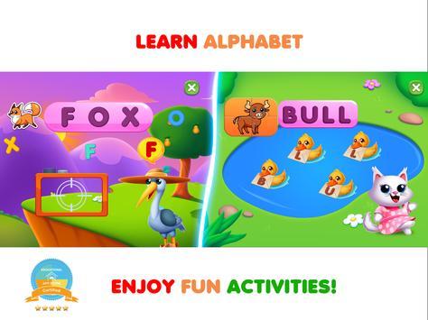 Permainan kanak-kanak. Belajar abc & Buku mewarna syot layar 10