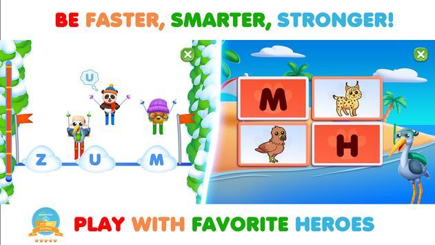 Permainan kanak-kanak. Belajar abc & Buku mewarna syot layar 6