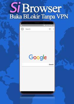 Si Browser Anti Blokir VPN Browser Tercepat poster
