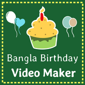 Bangla birthday video maker icon