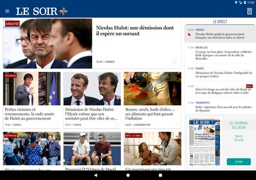 Le Soir screenshot 4