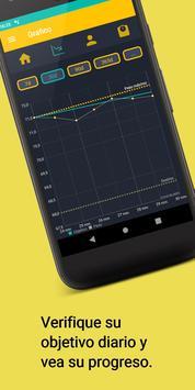 Seguimiento de peso y dieta - Asistente de IMC captura de pantalla 1