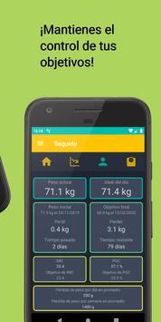 Seguimiento de peso y dieta - Asistente de IMC captura de pantalla 2