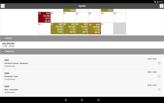 NMBS Agenda screenshot 4