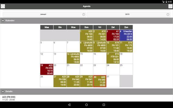 NMBS Agenda screenshot 3
