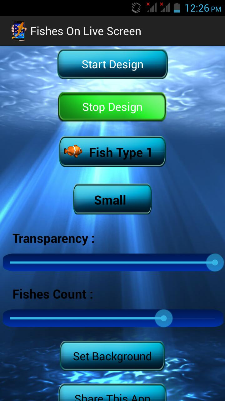 Fishes on Live Screen poster