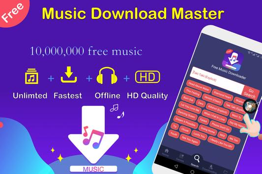 Free Music Downloader + Mp3 Music Download Song poster