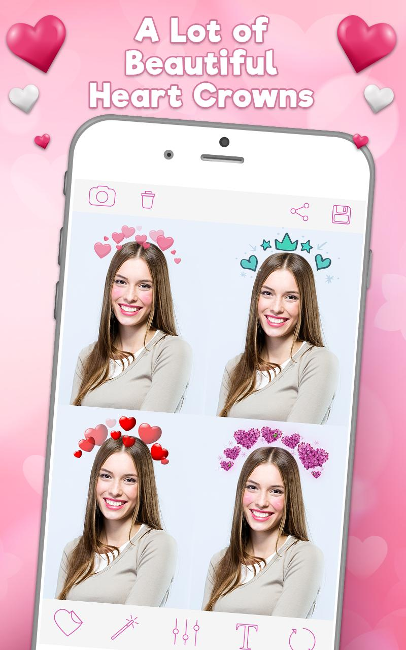 оригинальное название приложение где сердечки над головой на фото такой