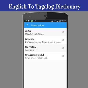 English To Tagalog Dictionary screenshot 4