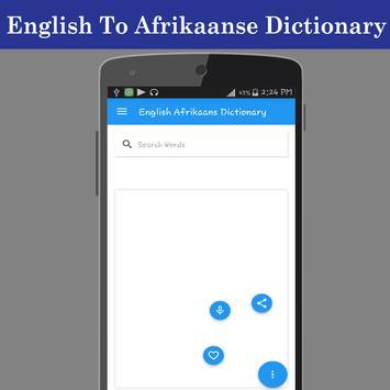 English Afrikaans Dictionary screenshot 1
