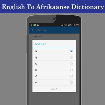 English Afrikaans Dictionary screenshot 20
