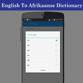 English Afrikaans Dictionary screenshot 6